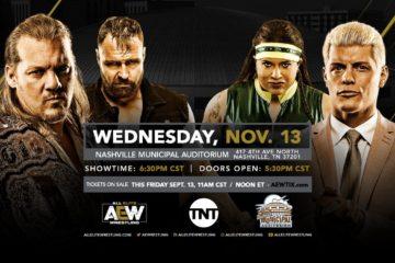 Nashville sera la 7ème ville hôte de AEW sur TNT